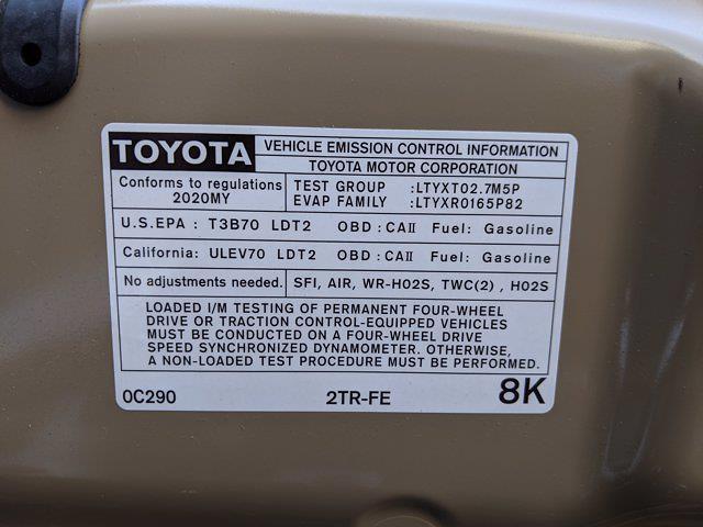 2020 Toyota Tacoma 4x2, Pickup #LX170583 - photo 23
