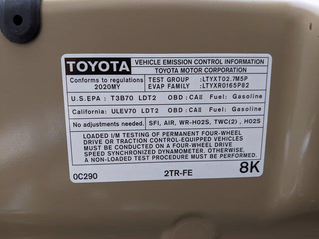 2020 Toyota Tacoma 4x2, Pickup #LX170763 - photo 23