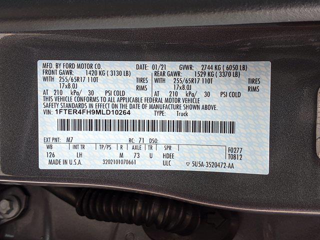 2021 Ford Ranger SuperCrew Cab 4x4, Pickup #MLD10264 - photo 34