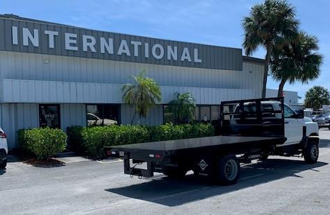 2019 International CV 4x4, Simplified Fabricators, Inc. Platform Body #KH067183 - photo 1