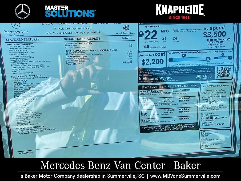 2020 Mercedes-Benz Metris 4x2, Knapheide Pro-Series Upfitted Cargo Van #MV0040 - photo 33