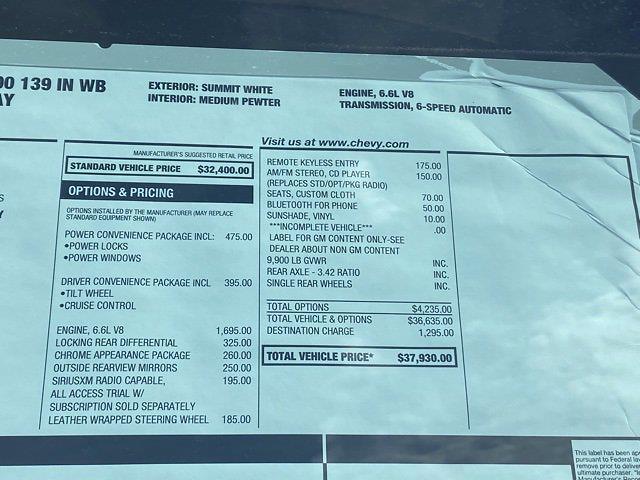 2021 Chevrolet Express 3500 4x2, Dejana DuraCube Cutaway Van #Q210260 - photo 38