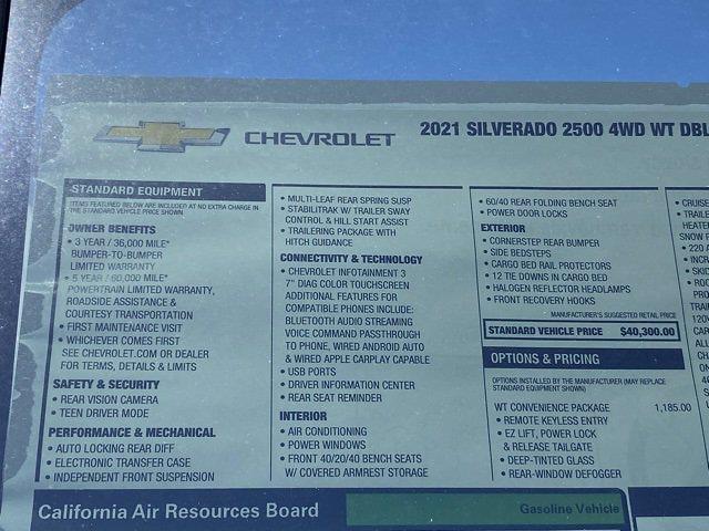 2021 Chevrolet Silverado 2500 Double Cab 4x4, Western Snowplow Pickup #Q210287 - photo 35
