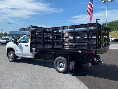 2021 Silverado 3500 Regular Cab 4x4,  Stake Bed #Q210522 - photo 2