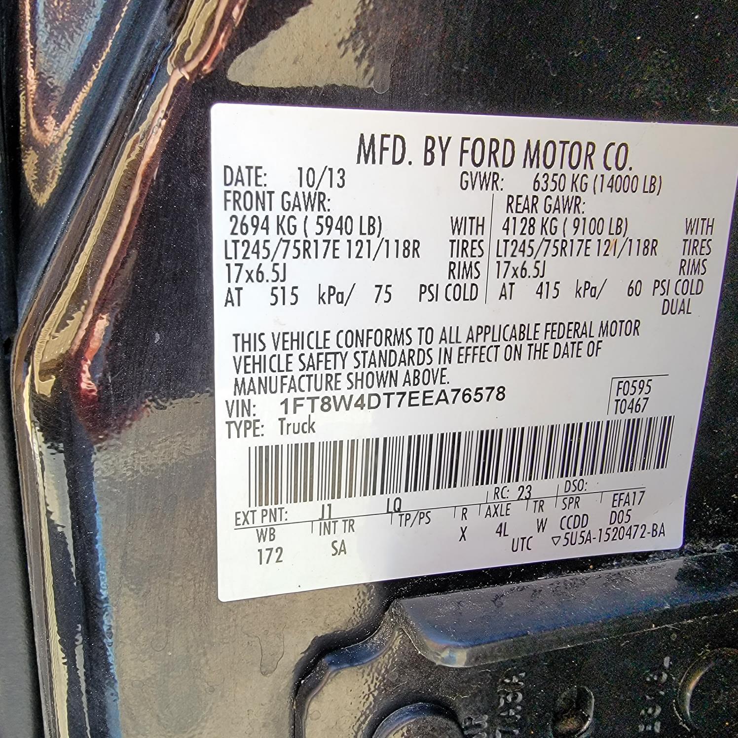 2014 Ford F-450 Crew Cab DRW 4x4, 8' Knapheide service body #EEA76578 - photo 11