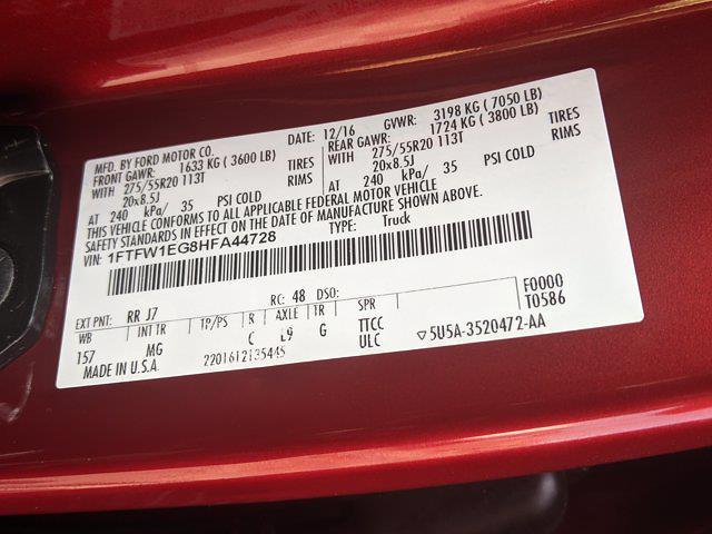 2017 F-150 SuperCrew Cab 4x4,  Pickup #HFA44728 - photo 30