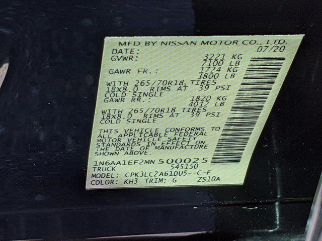 2021 Nissan Titan 4x2, Pickup #MN500025 - photo 30