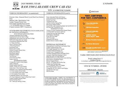 2020 Ram 1500 Crew Cab 4x4,  Pickup #JP28981 - photo 10