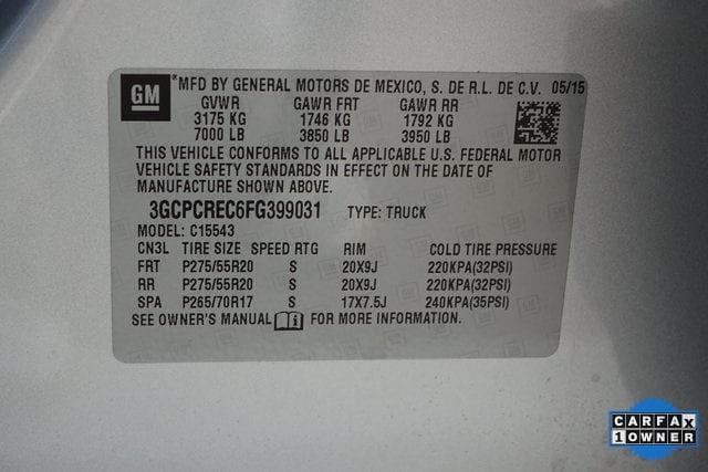 2015 Chevrolet Silverado 1500 Crew Cab 4x2, Pickup #FG399031 - photo 33