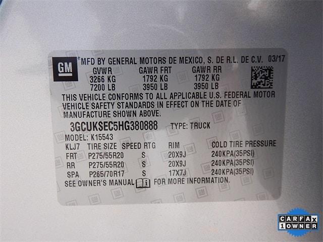 2017 Chevrolet Silverado 1500 Crew Cab 4x4, Pickup #HG380888 - photo 40
