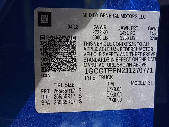 2018 Chevrolet Colorado Crew Cab 4x4, Pickup #J1270771 - photo 34
