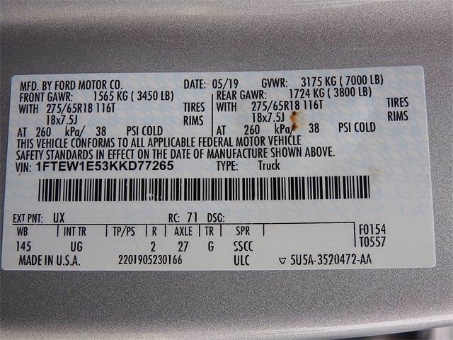 2019 Ford F-150 SuperCrew Cab 4x4, Pickup #KKD77265 - photo 34