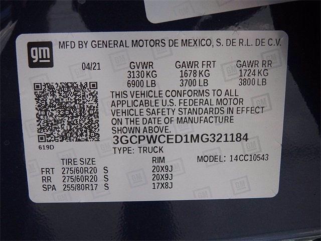 2021 Chevrolet Silverado 1500 Crew Cab 4x2, Pickup #MG321184 - photo 28