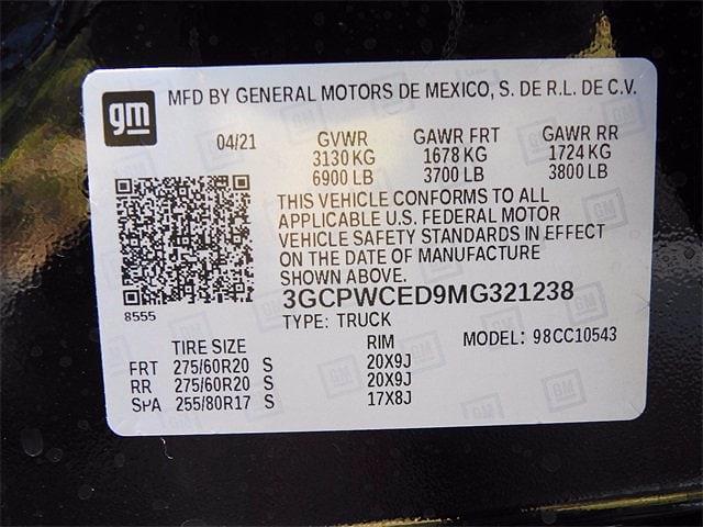 2021 Chevrolet Silverado 1500 Crew Cab 4x2, Pickup #MG321238 - photo 27