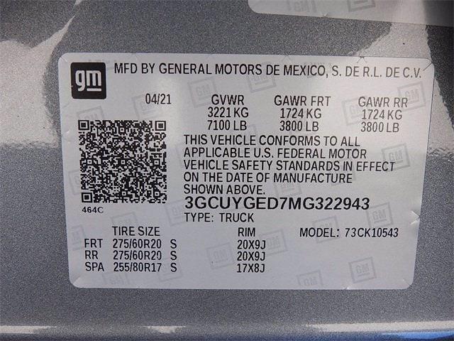 2021 Chevrolet Silverado 1500 Crew Cab 4x4, Pickup #MG322943 - photo 29