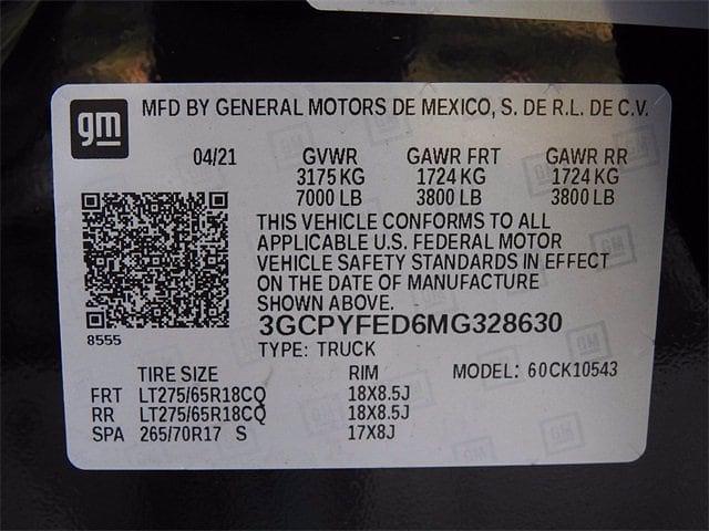 2021 Chevrolet Silverado 1500 Crew Cab 4x4, Pickup #MG328630 - photo 28
