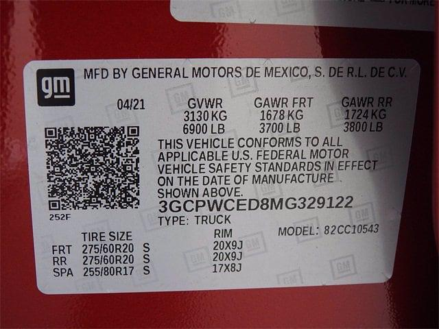 2021 Chevrolet Silverado 1500 Crew Cab 4x2, Pickup #MG329122 - photo 28