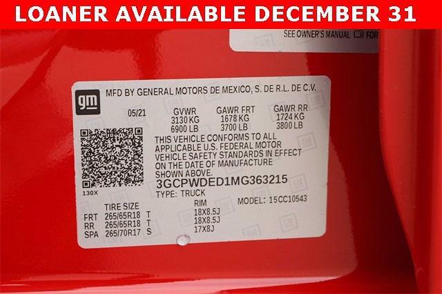 2021 Chevrolet Silverado 1500 Crew Cab 4x2, Pickup #MG363215 - photo 19