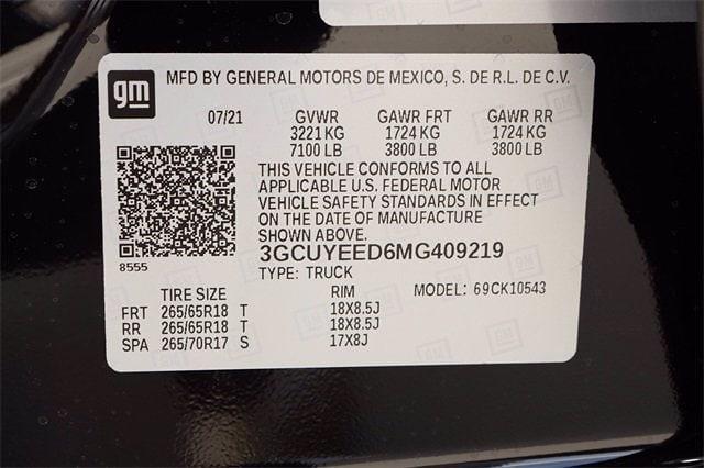 2021 Chevrolet Silverado 1500 Crew Cab 4x4, Pickup #MG409219 - photo 21