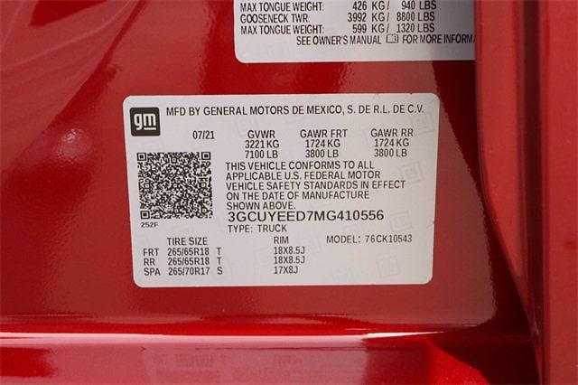 2021 Chevrolet Silverado 1500 Crew Cab 4x4, Pickup #MG410556 - photo 21