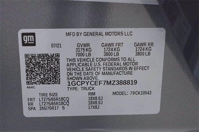 2021 Chevrolet Silverado 1500 Crew Cab 4x4, Pickup #MZ388819 - photo 21