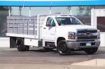 2021 Silverado 5500 Regular Cab DRW 4x2,  Scelzi Stake Bed #21T379 - photo 3