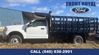 2020 Ford F-350 Regular Cab DRW AWD, PJ's Landscape Dump Stake Bed #T3015 - photo 10