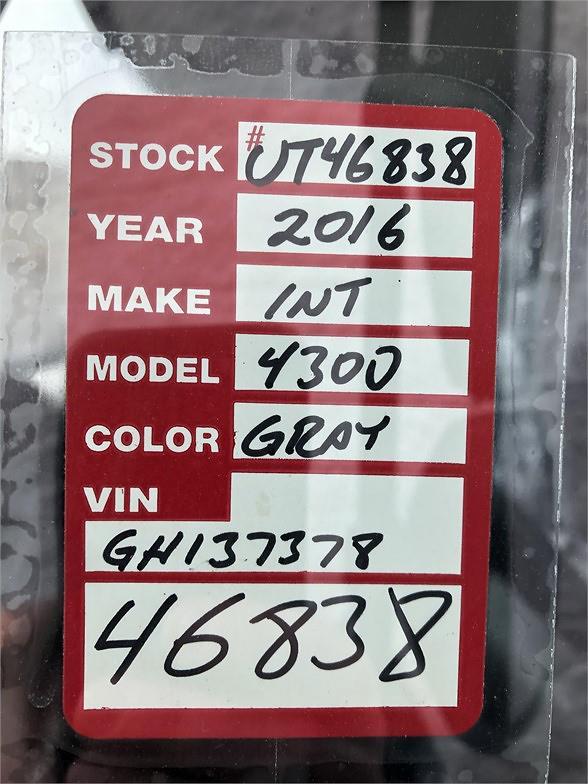 2016 International DuraStar 4300 4x2, Cab Chassis #UT46838 - photo 7