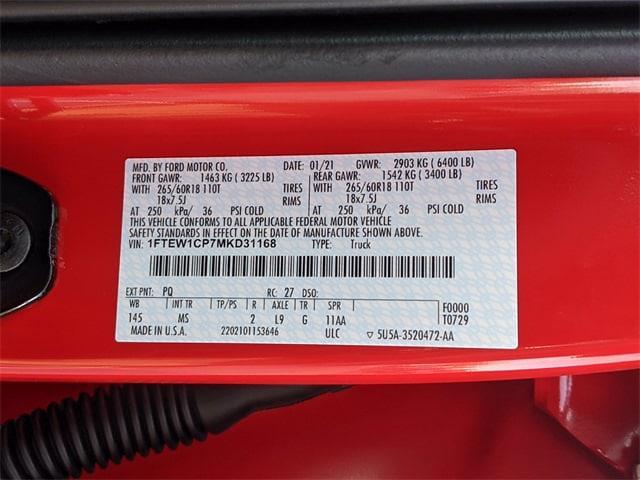 2021 Ford F-150 SuperCrew Cab 4x2, Pickup #NT9134 - photo 37