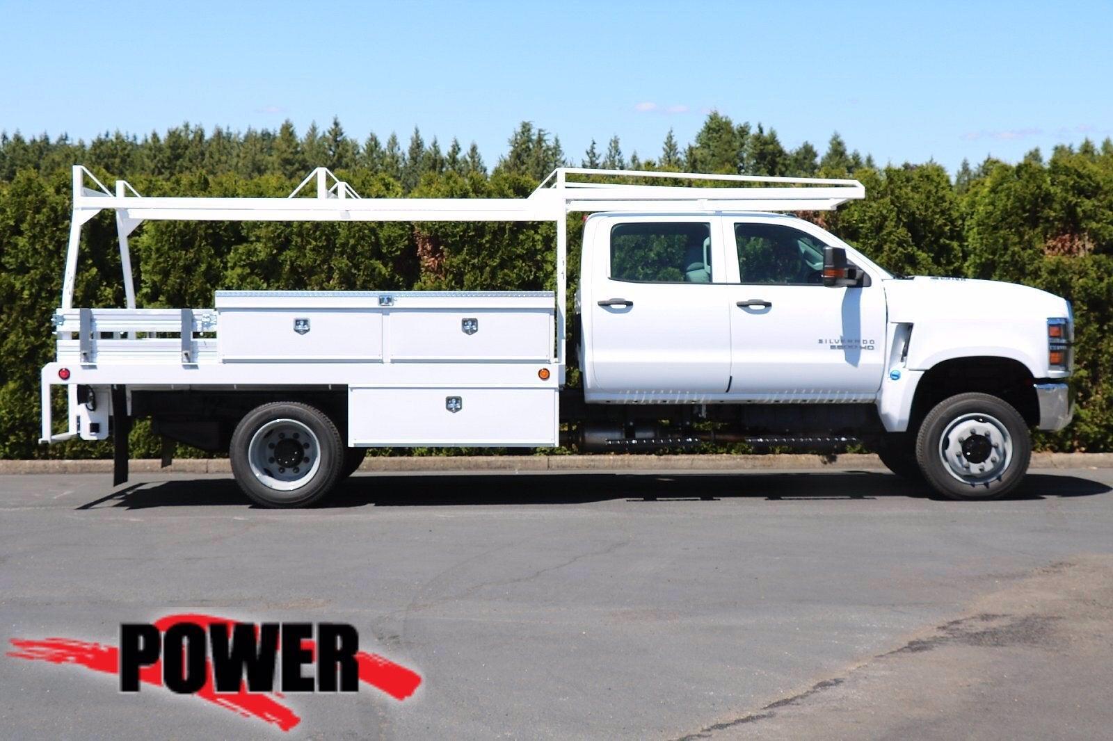 2021 Chevrolet Silverado 5500 Crew Cab DRW 4x4, Scelzi SEC Contractor Body #24382 - photo 4