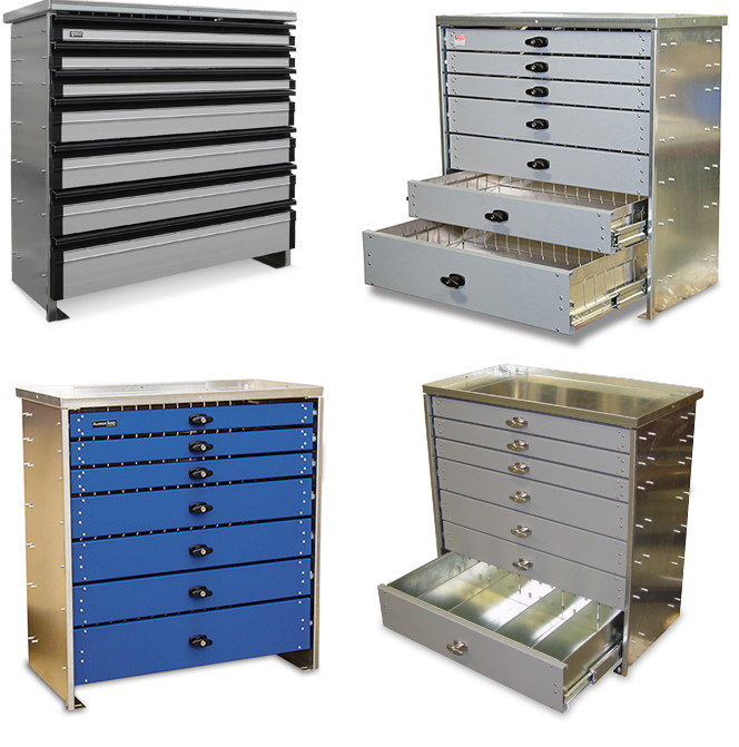 Tool boxes from American Eagle Drawer Systems