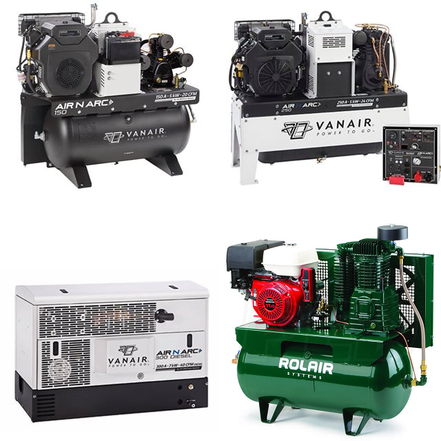 Air Compressors from VanAir and RolAir