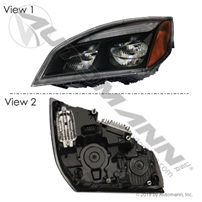 Head Lamp LH Black LED Freightliner
