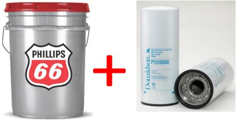 Donaldson ISX Oil Filter with Pillips 66 15W-40 Oil