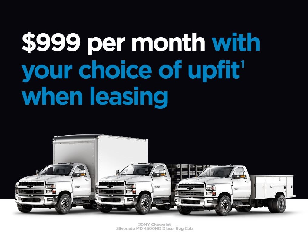 Special Leasing options available for Silverado 4500 at Mark Christopher Auto Center in Ontario CA