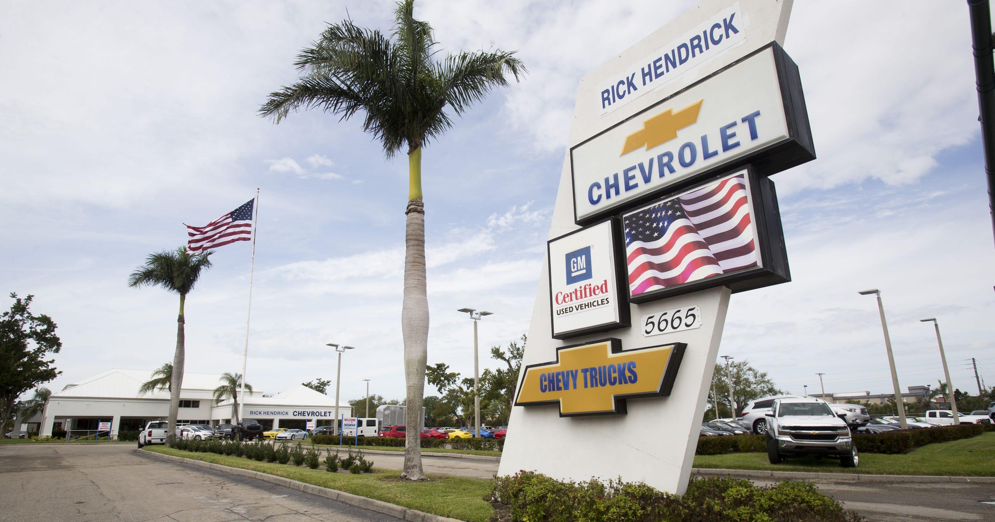 Rick Hendrick Chevrolet Naples Fleet trucks and vans