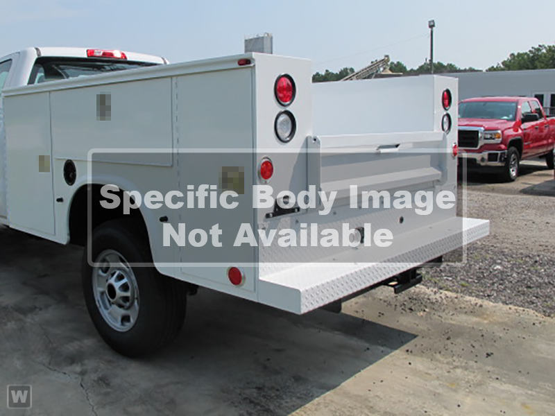 2019 Sierra 3500 Crew Cab DRW 4x2, service body with full size ladder rack and spay-in liner  #F0014 - photo 1