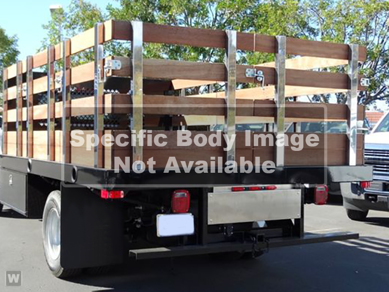 2019 Silverado Medium Duty DRW 4x2,  Martin Flat/Stake Bed #H811862 - photo 1