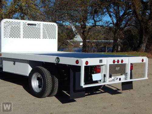 2021 Ram 5500 Regular Cab DRW 4x4,  Scelzi WFB Platform Body #62698D - photo 1