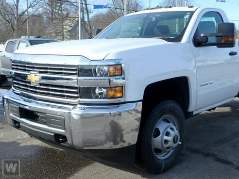2018 Silverado 3500 Regular Cab DRW 4x2,  Harbor Standard Contractor Body #M18254 - photo 1