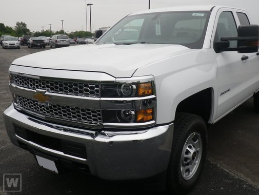 New 2019 Chevrolet Silverado 2500 Work Truck white exterior dark ash with jet