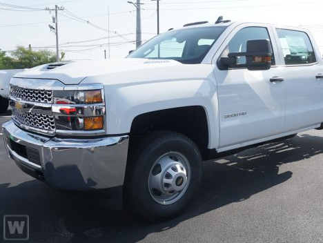 2019 Silverado 3500 Crew Cab DRW 4x2,  Action Fabrication Platform Body Stake Bed #S9178 - photo 1