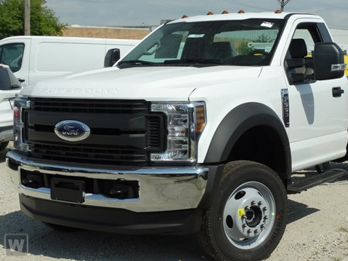 2019 F-550 Regular Cab DRW 4x4,  Harbor Contractor Body #5767 - photo 1