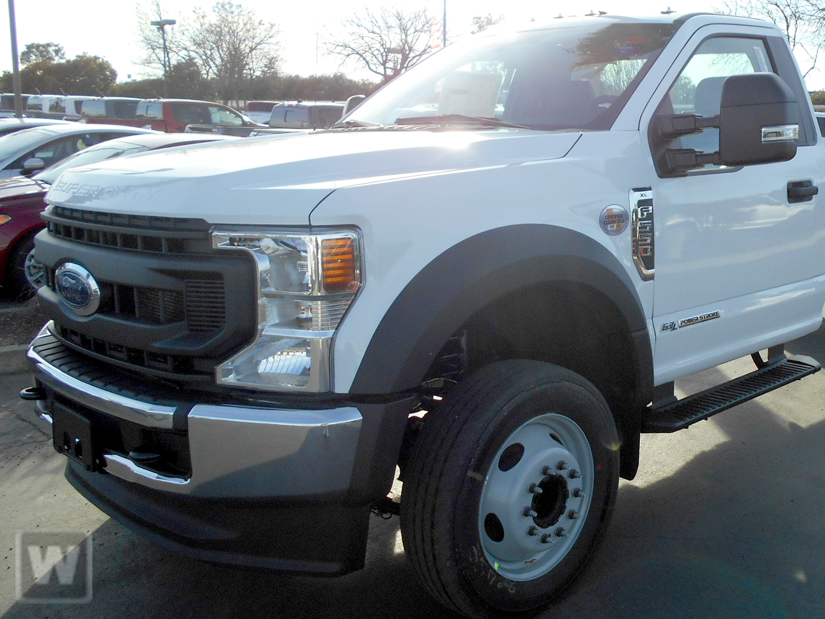 2020 Ford F-550 Regular Cab DRW 4x2, Scelzi SFB Platform Body #LDA09647 - photo 1